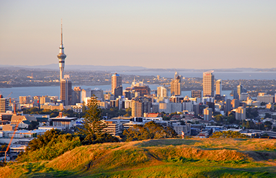 Auckland, New Zealand, where 69% of fine particulate pollution in winter comes from residential wood burning.