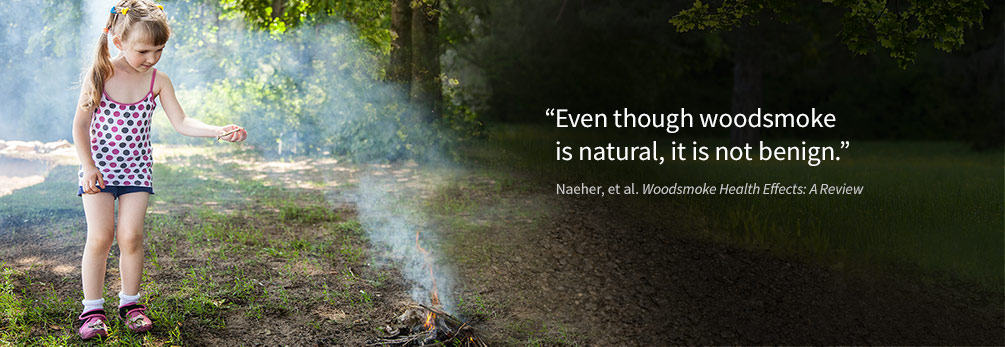 Photo: Even though woodsmoke is natural, it is not benign.